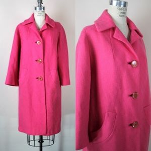 Vintage 1960s Pink Overcoat With Pockets